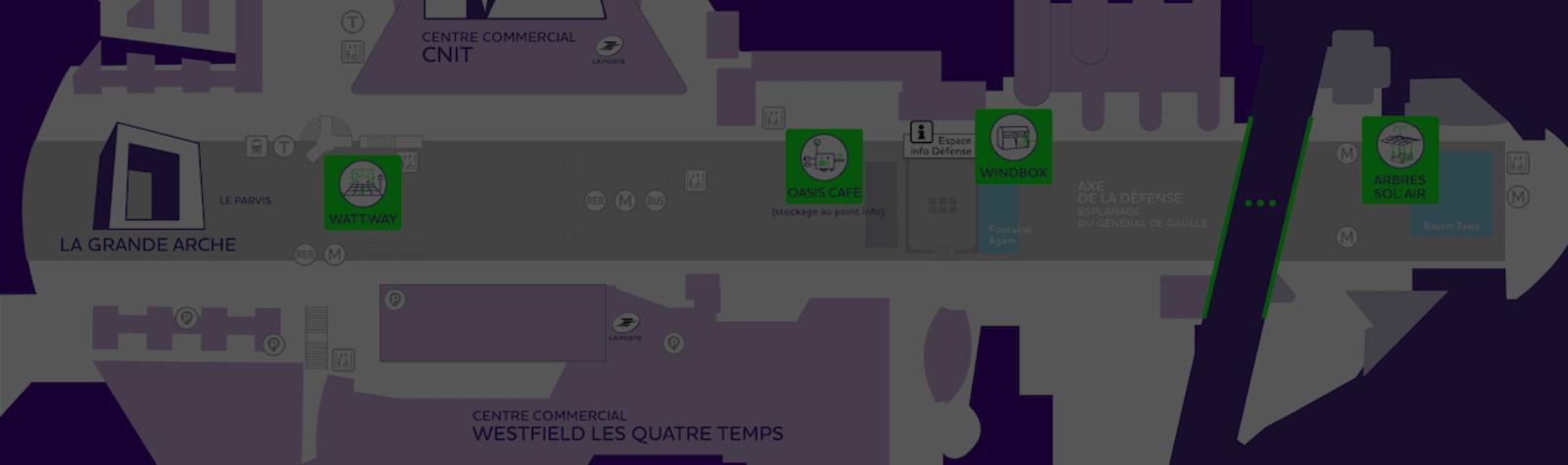 Paris La Défense installe des Oasis énergétiques sur son territoire