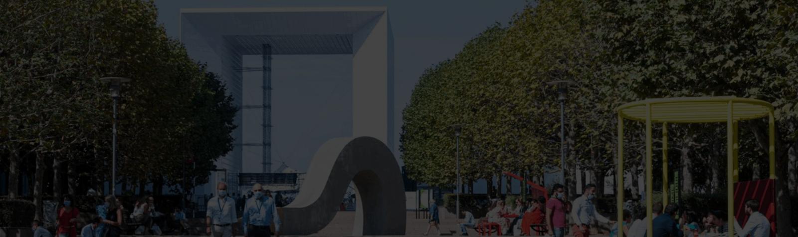 Risque sanitaire : 93 % des utilisateurs du quartier se sentent en sécurité à Paris La Défense.