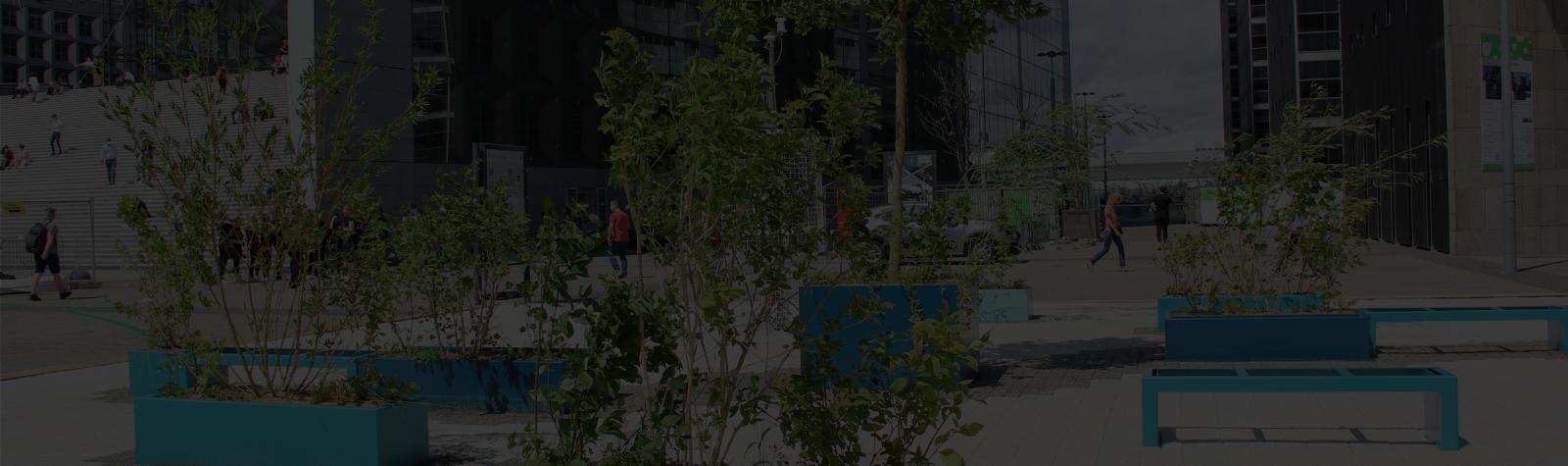 Paris La Défense expérimente deux « Oasis de fraîcheur » sur son territoire pendant la période estivale